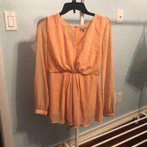CUTE Peach long sleeved romper!